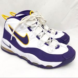 Men's Nike White/Purple/Gold Air Max Uptempo sz 8